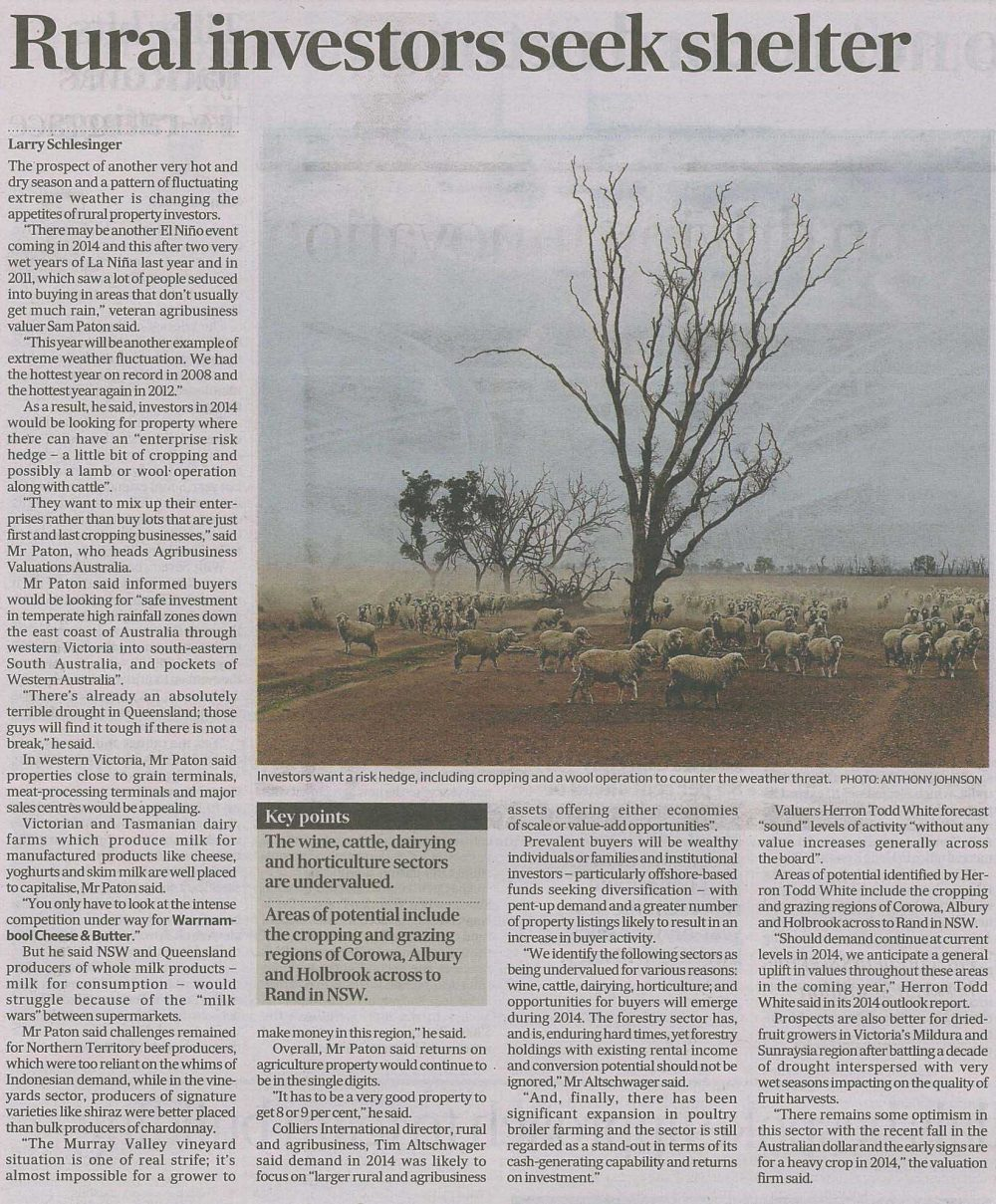 Rural Investors Seek Shelter Afr Jan 2014