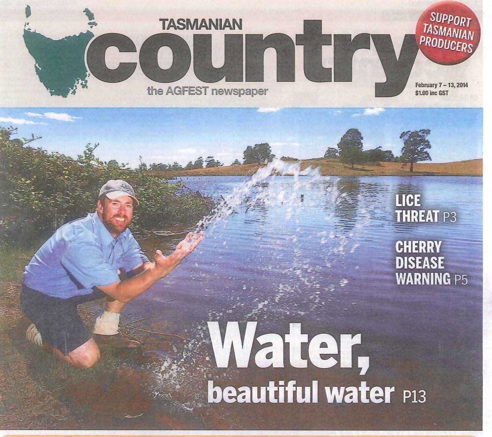 Tas Country Front Page Kindred Opening Feb 2014